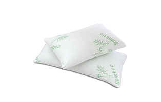Queen 2 Pack Bamboo Memory Foam Hypoallergenic Pillow with FREE Shipping!